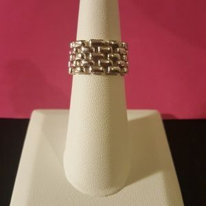Gorgeous Italian Silver Flexible Ring